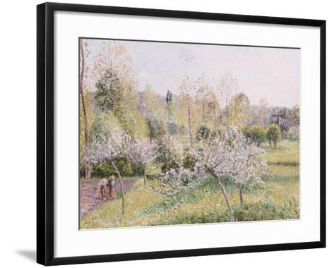 Apple Trees in Blossom, Eragny, 1895-Camille Pissarro-Framed Art Print