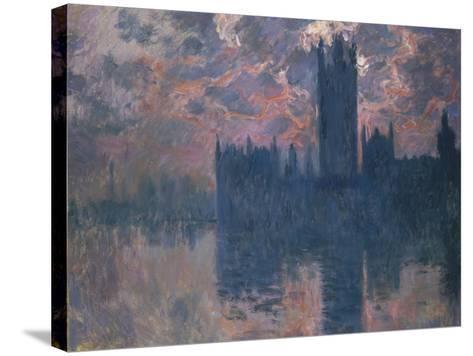 Parliament, Sunset, 1902-Claude Monet-Stretched Canvas Print