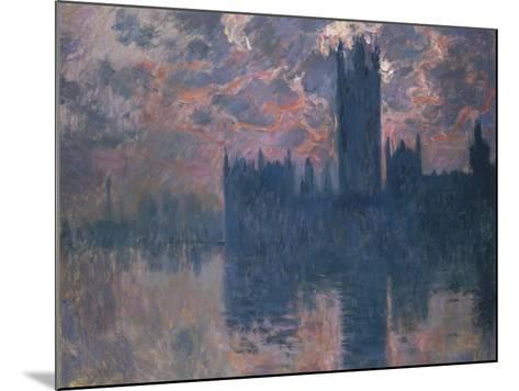 Parliament, Sunset, 1902-Claude Monet-Mounted Giclee Print