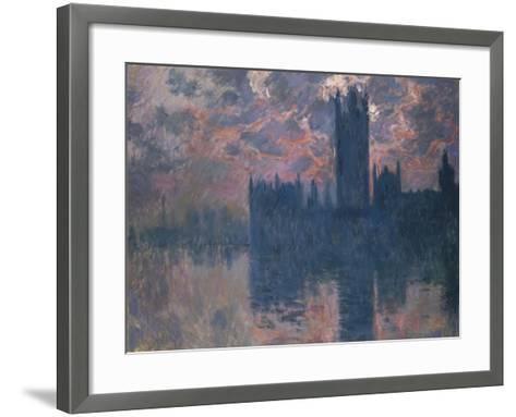 Parliament, Sunset, 1902-Claude Monet-Framed Art Print