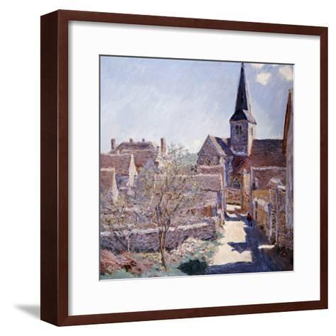 Bennecourt, 1885-Claude Monet-Framed Art Print