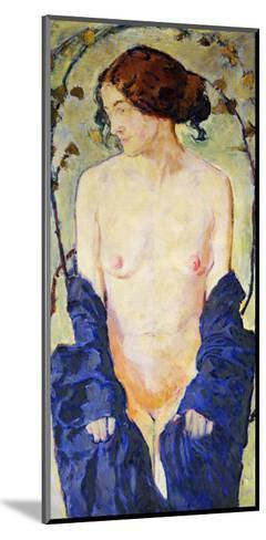 Standing Nude with Blue Robe, circa 1900-Kolomon Moser-Mounted Giclee Print