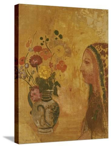 Profile of a Woman-Odilon Redon-Stretched Canvas Print