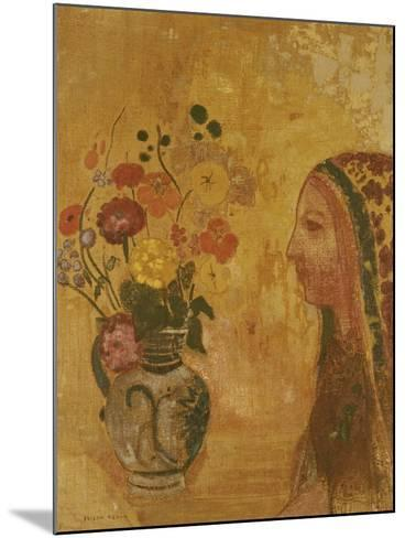 Profile of a Woman-Odilon Redon-Mounted Giclee Print