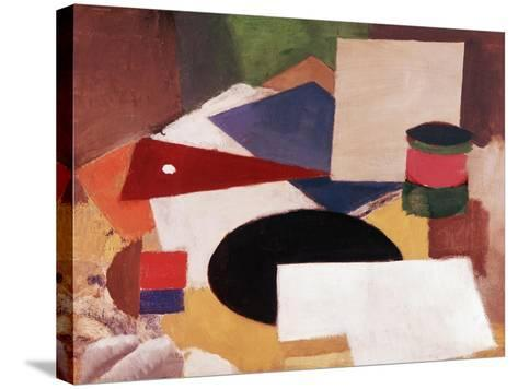 Still Life, Square on a White Background with a Black Disc-Roger de La Fresnaye-Stretched Canvas Print