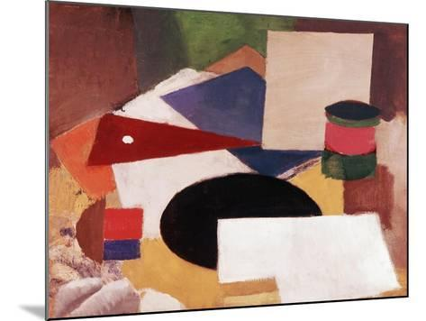 Still Life, Square on a White Background with a Black Disc-Roger de La Fresnaye-Mounted Giclee Print