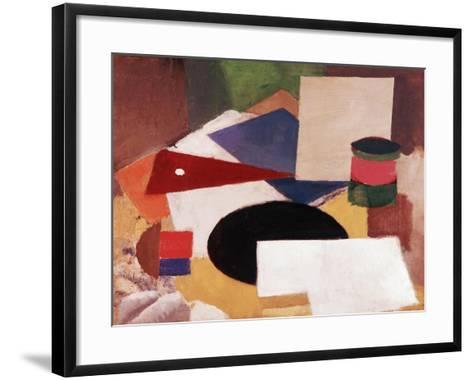 Still Life, Square on a White Background with a Black Disc-Roger de La Fresnaye-Framed Art Print