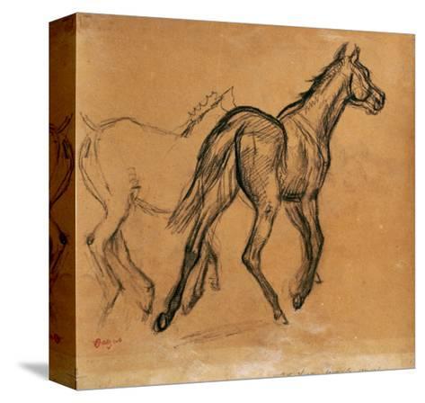Horses, circa 1882-Edgar Degas-Stretched Canvas Print