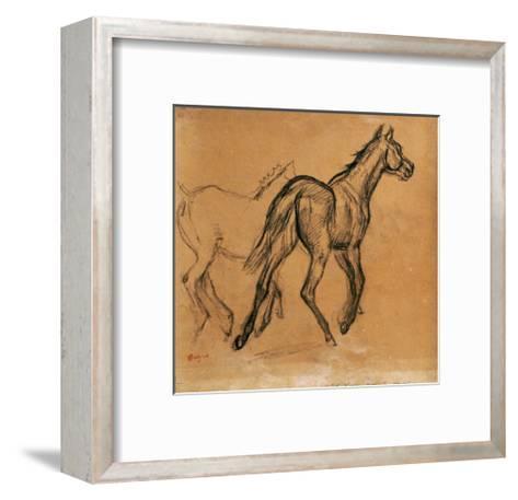 Horses, circa 1882-Edgar Degas-Framed Art Print