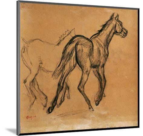 Horses, circa 1882-Edgar Degas-Mounted Giclee Print