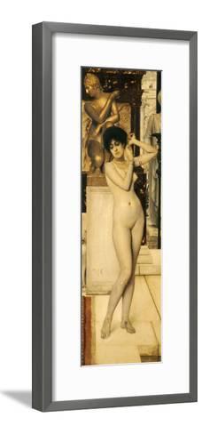 Skigge Und Eingelstudie Fur Die Allegorie Der Skulptur, 1890-Gustav Klimt-Framed Art Print