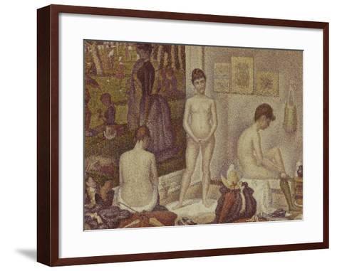 Les Poseuses Including a Reference to Dimanche Apres-Midi Sur la Grande Jatte, Umbrella-Georges Seurat-Framed Art Print