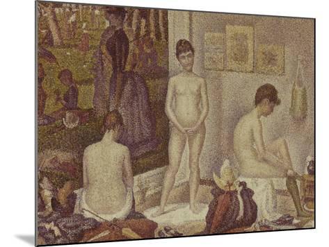 Les Poseuses Including a Reference to Dimanche Apres-Midi Sur la Grande Jatte, Umbrella-Georges Seurat-Mounted Giclee Print
