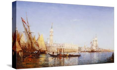 The Grand Canal, Venice-Felix Ziem-Stretched Canvas Print