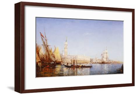 The Grand Canal, Venice-Felix Ziem-Framed Art Print