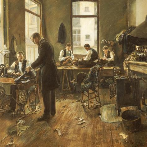 The Tailors-Leon Bartholomee-Stretched Canvas Print