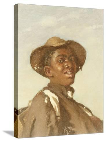 A Negro, Head and Shoulders-Frank Buchser-Stretched Canvas Print