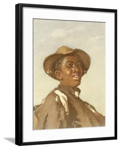 A Negro, Head and Shoulders-Frank Buchser-Framed Art Print