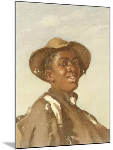 A Negro, Head and Shoulders-Frank Buchser-Mounted Giclee Print