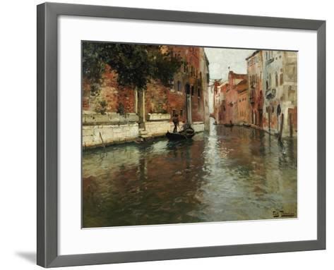 A Venetian Backwater-Fritz Thaulow-Framed Art Print