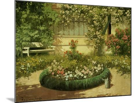 A Sunlit Flower Garden-Laszlo Neogrady-Mounted Giclee Print