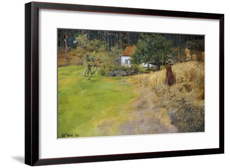 Haymaking, 1889-Fritz Thaulow-Framed Art Print