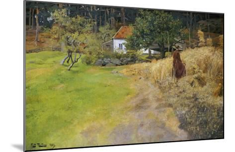 Haymaking, 1889-Fritz Thaulow-Mounted Giclee Print