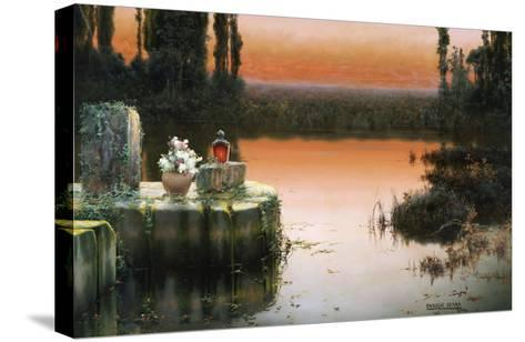 Flooded Ruins at Sunset-Enrique Serra-Stretched Canvas Print