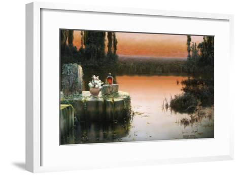 Flooded Ruins at Sunset-Enrique Serra-Framed Art Print