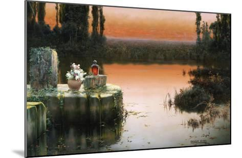 Flooded Ruins at Sunset-Enrique Serra-Mounted Giclee Print