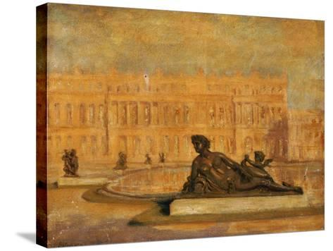The Water Parterre at Versaille-Jean Altamura-Stretched Canvas Print