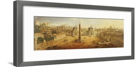 Piazza Del Popolo, Rome- Vanvitelli (Gaspar van Wittel)-Framed Art Print