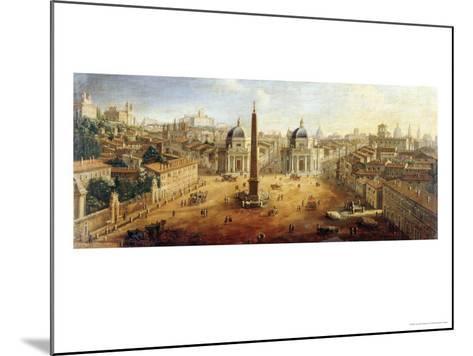 Piazza Del Popolo, Rome- Vanvitelli (Gaspar van Wittel)-Mounted Giclee Print