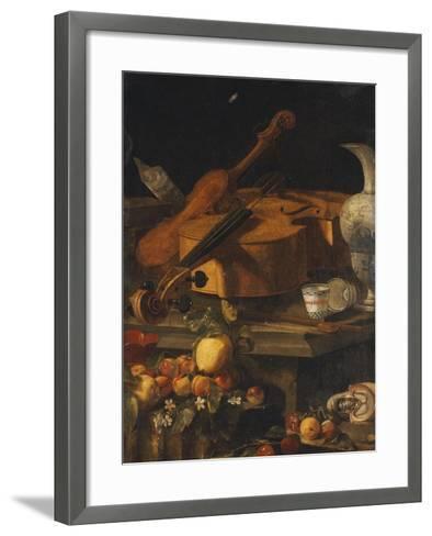 A Violin, a Cello, a Bow, a Sheet-Christoforo Munari-Framed Art Print