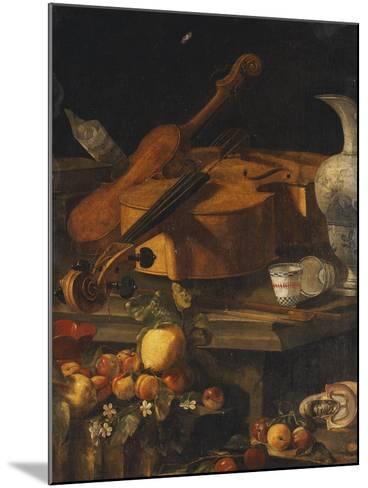A Violin, a Cello, a Bow, a Sheet-Christoforo Munari-Mounted Giclee Print