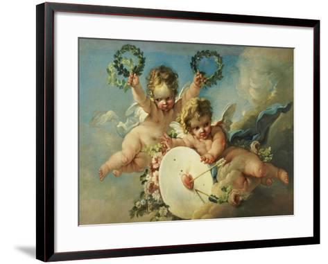 La Cible d'Amour (Love Target)-Francois Boucher-Framed Art Print