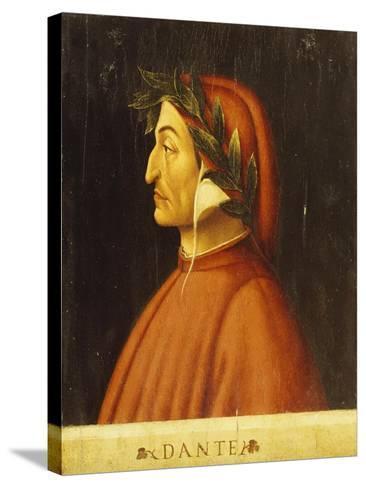 Portrait of Dante-Domenico Ghirlandaio-Stretched Canvas Print