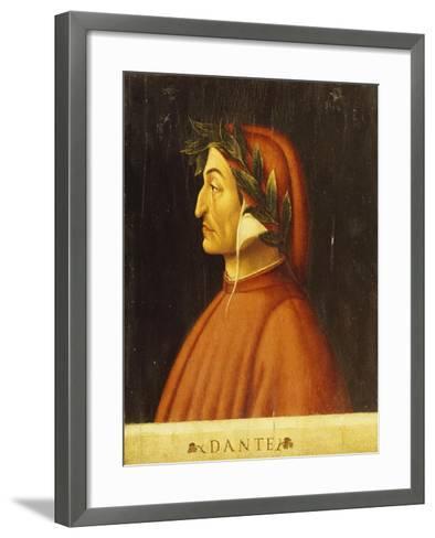 Portrait of Dante-Domenico Ghirlandaio-Framed Art Print