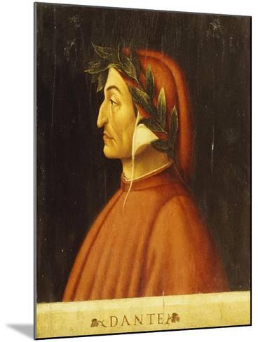Portrait of Dante-Domenico Ghirlandaio-Mounted Giclee Print