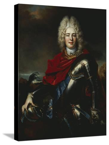 Portrait of Frederick Augustus II of Saxony (1696-1763), Later King Augustus III of Poland-Nicolas De Largilliere-Stretched Canvas Print