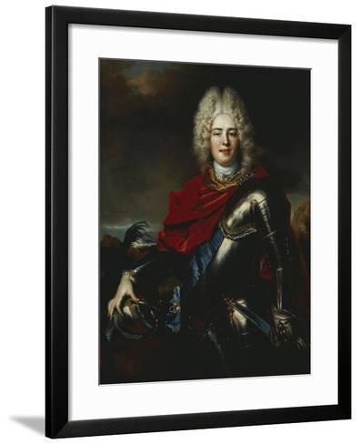 Portrait of Frederick Augustus II of Saxony (1696-1763), Later King Augustus III of Poland-Nicolas De Largilliere-Framed Art Print
