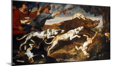 A Boar Hunt-Frans Snyders-Mounted Giclee Print