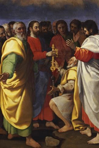 Christ's Charge to Saint Peter-Giuseppe Vermiglio-Stretched Canvas Print
