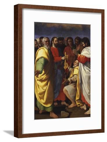 Christ's Charge to Saint Peter-Giuseppe Vermiglio-Framed Art Print
