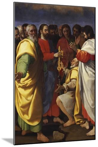 Christ's Charge to Saint Peter-Giuseppe Vermiglio-Mounted Giclee Print