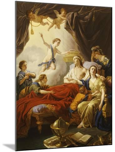 Dauphin the Royal Highness Dying and Duc Who Presents the Crown of Immortality-Jean-francois Lagrenee-Mounted Giclee Print