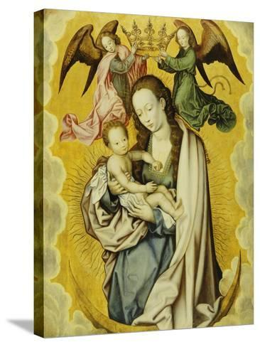 The Virgin and Child in Glory, with Two Angels Holding the Virgin's Crown--Stretched Canvas Print