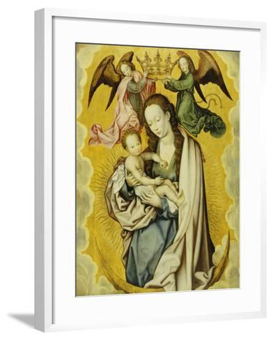 The Virgin and Child in Glory, with Two Angels Holding the Virgin's Crown--Framed Art Print