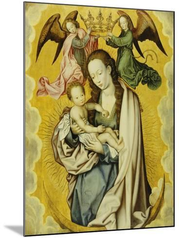 The Virgin and Child in Glory, with Two Angels Holding the Virgin's Crown--Mounted Giclee Print
