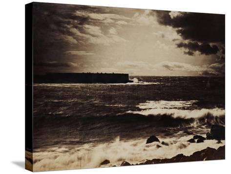The Great Wave, Sete, 1856-9-Gustave Le Gray-Stretched Canvas Print
